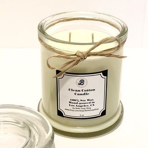 Highly Fragranced Clean Cotton Soy Candle 9 oz